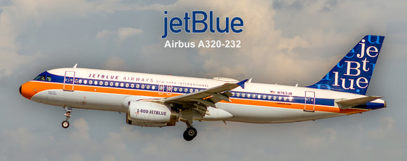 JetBlue Airways Airbus A320 NY Int'l Retro Colors (PMT1651)