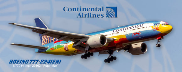 Continental Airlines (Peter Max) Boeing 777-224 (PMT1685)