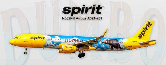 Spirit Airlines Airbus A321 Disney Dumbo Colors (PMT1712)