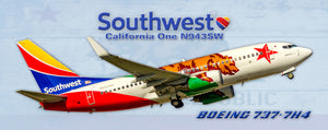 Southwest Airlines Boeing 737-7H4 California One Colors (PMT1720)