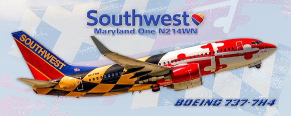 Southwest Airlines Boeing 737-7H4 Maryland One Colors (PMT1721)