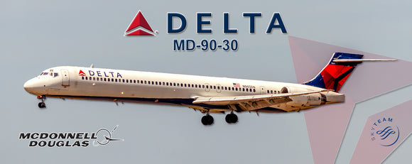 Delta Air Lines 2007 Colors MD-90-30 (PMT1731)