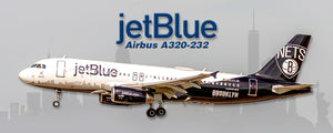 JetBlue Airways Airbus A320-232 Brooklyn Nets Colors (PMT1733)