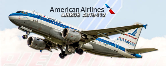 American Airlines Airbus A319 Piedmont Heritage (PMT1741)