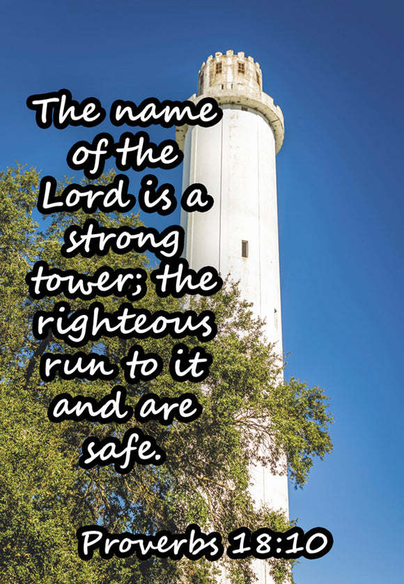 Proverbs 18:10 Watch Tower  (PMT9101)