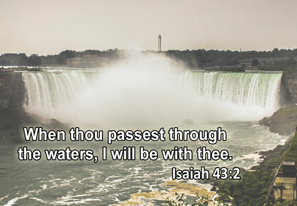 Isaiah 43:2 Waterfalls (PMT9106)