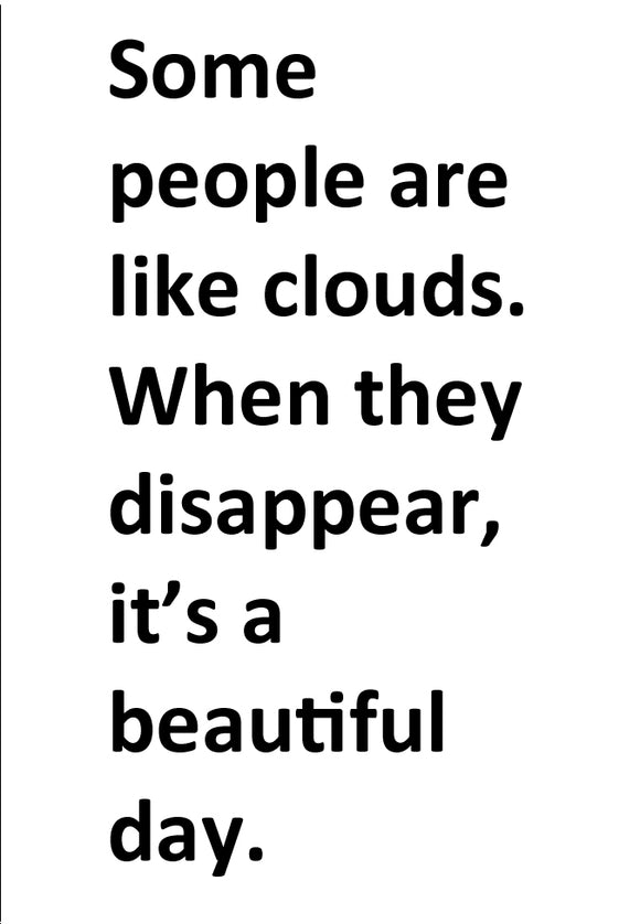People are Like Clouds (PMT9109