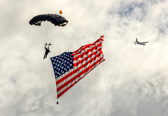Parachute with US Flag (PMW12006)