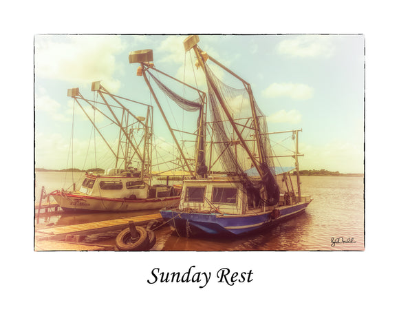 Sunday Rest Louisiana Shrimp Boats (20170702001811x14)