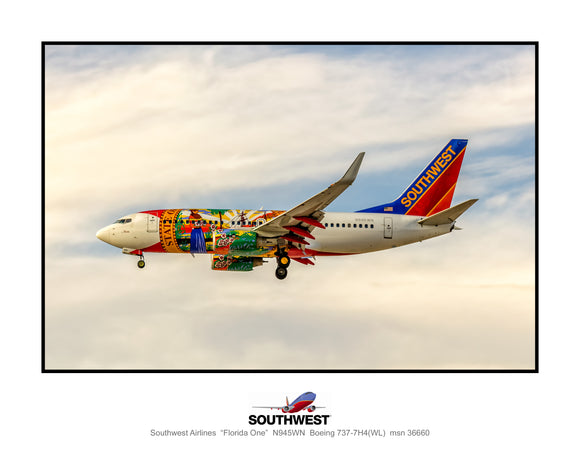 Southwest Airlines Florida One colors (TT039LAJM11X14)