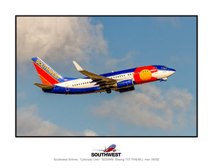 Southwest Airlines Colorado One colors (TT194RAJM11X14)