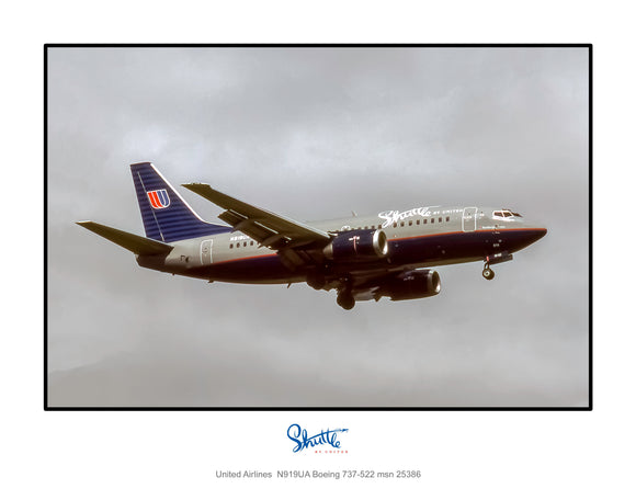 Shuttle by United Airlines Boeing 737 (X013RAJF11X14)