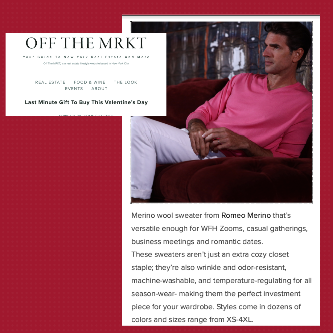 Romeo Merino Featured in Off The MRKT's Valentine's Gift Guide