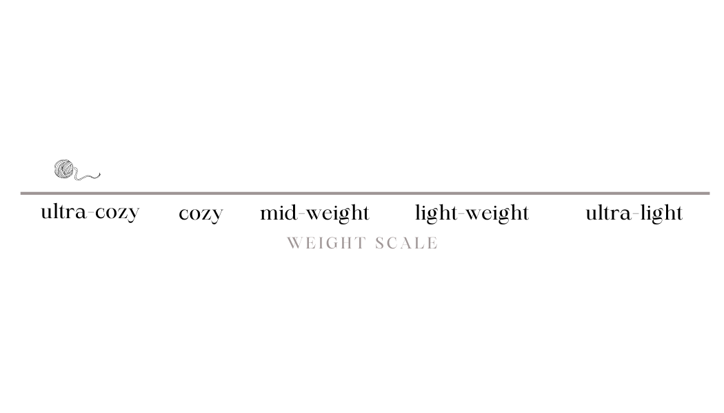 Merino Wool Weight Scale