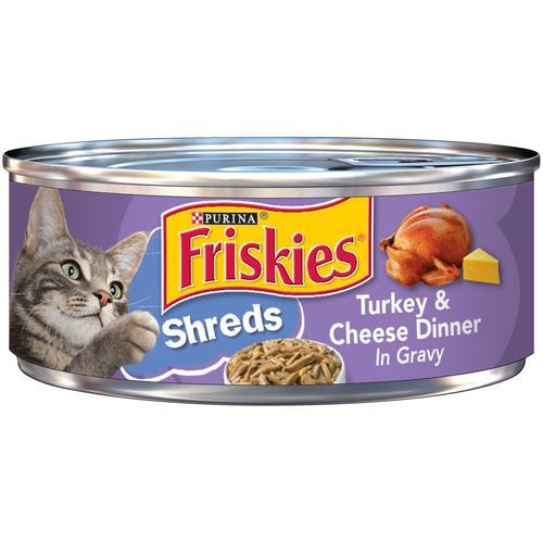 PURINA FRISKIES Savory Shreds Turkey & Cheese in Gravy Wet Cat Food