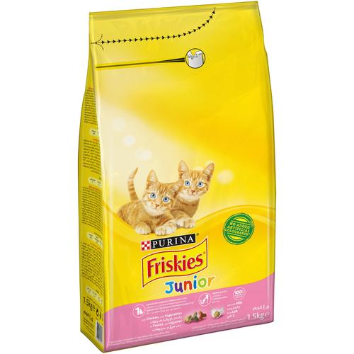Purina Friskies Junior with Chicken, Milk and Vegetables Dry Cat Food Pouch