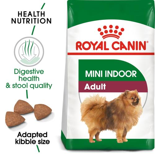 Royal Canin Mini Indoor Life Adult - Dry food for small breed dogs ( over 10 months old and weight up to 10 KG) - Living mainly indoors
