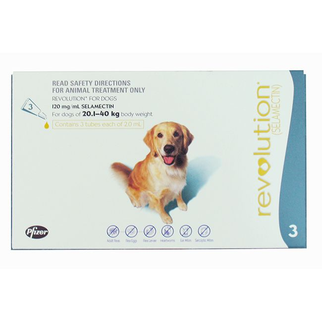 Revolution for dogs 20-40kg (Single Dose)