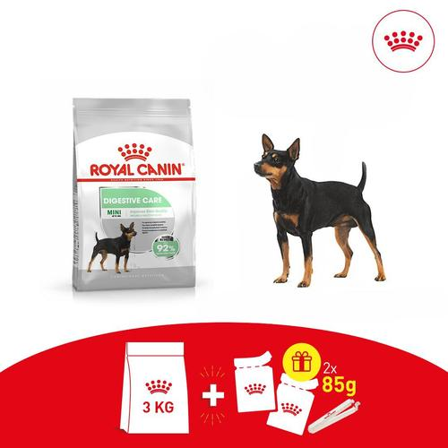 Offer: Royal Canin Mini Digestive Care + 2 Free Pouches & Pouch Clip