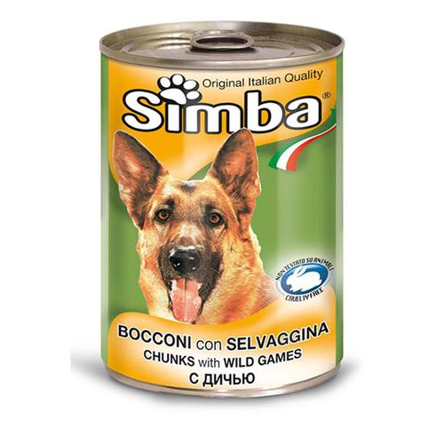 Simba Chunkies with Wild Games - wet dog food 415g