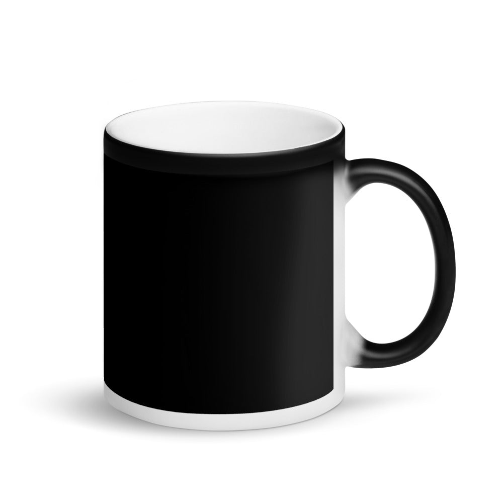 Coffee First Matte Black Mug