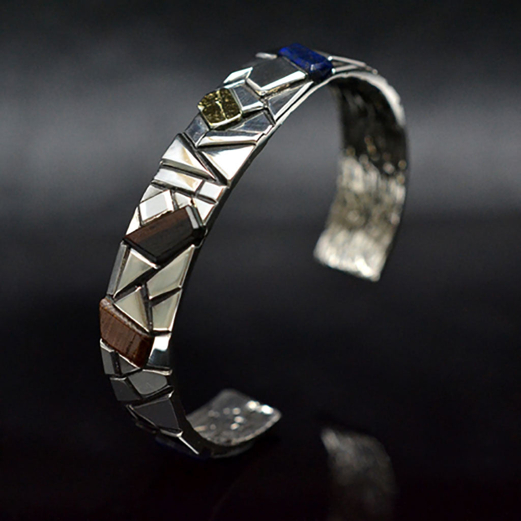 TEXTURE INLAY BANGLE - M.L.WRIGHT