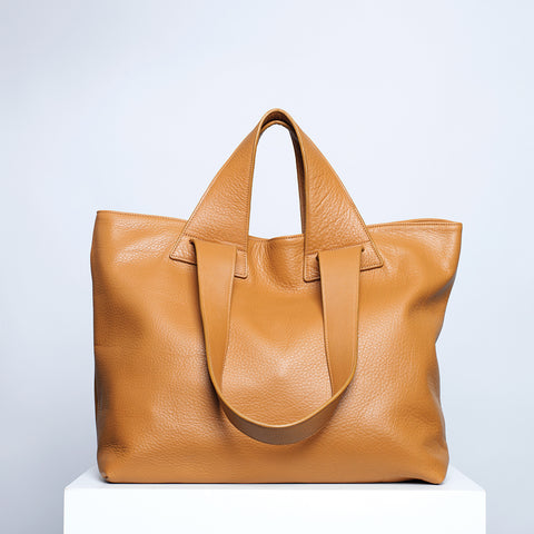 TOTE BAG, TAN - NO / AN