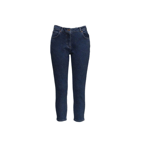 CROPPED JEANS IN 80'S BLUE - AALTO