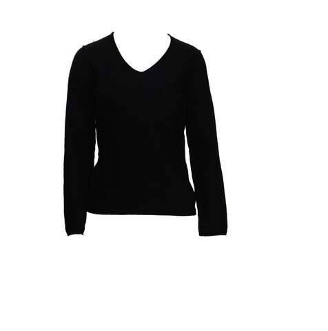 V-NECK JUMPER, NAVY - COMMED des GARCONS