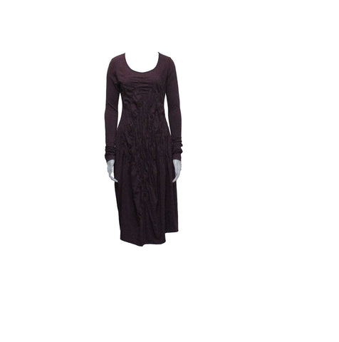 LONG SLEEVE DRESS, MERLOT - RUNDHOLZ BLACK LABE