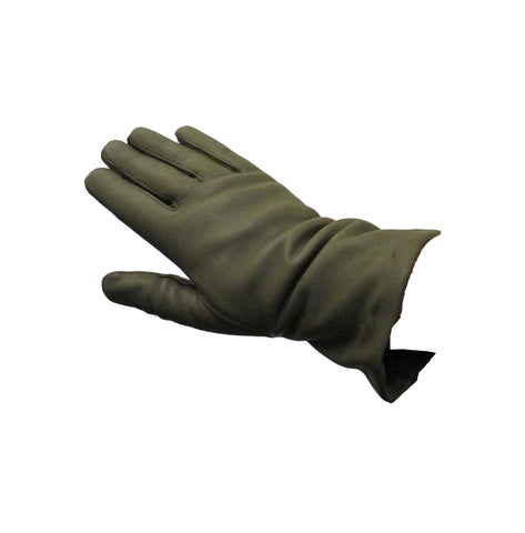 LEATHER GLOVES, ARMY GREEN - RHANDSKER