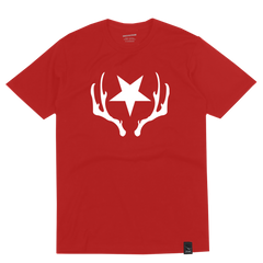 STAR & ANTLERS RED T-SHIRT