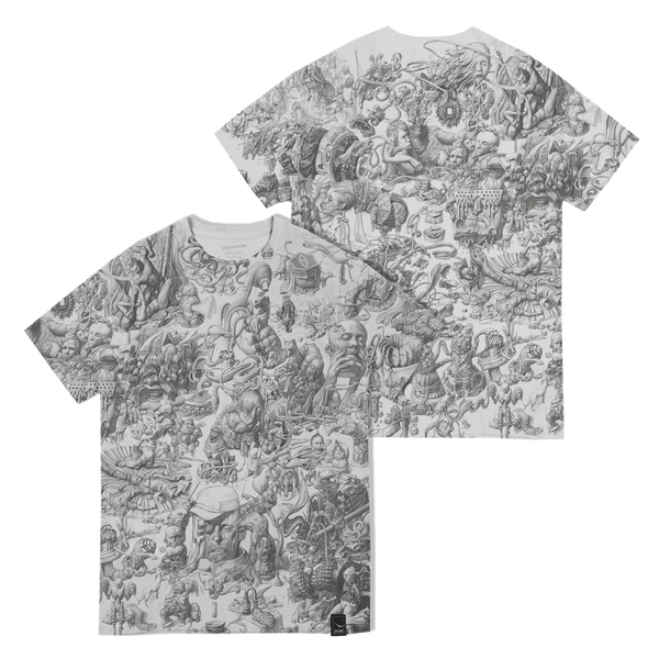 THOUGHT CABINET GRAYSCALE T-SHIRT