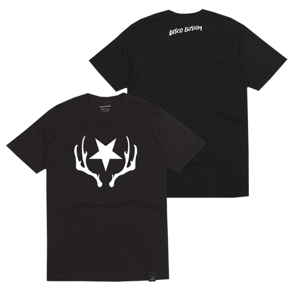 STAR & ANTLERS BLACK T-SHIRT