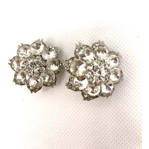 Round Encrusted Clip on Earring