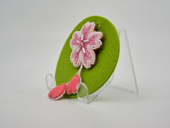 Brooch with Cherry Blossom Petal Drops - Designer Craft Shop