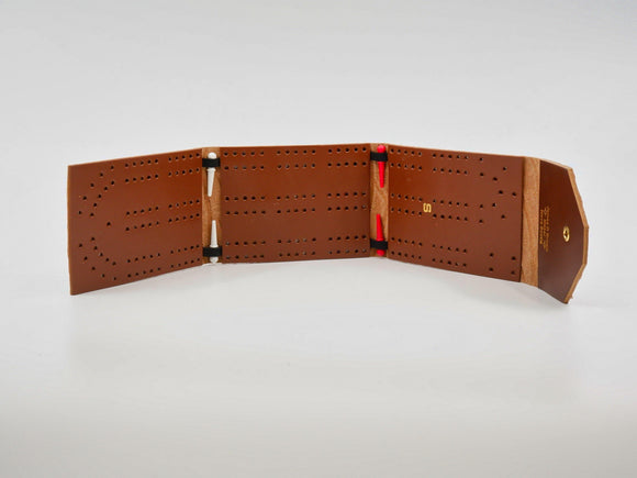 Leather Cribbage Board - Designer Craft Shop