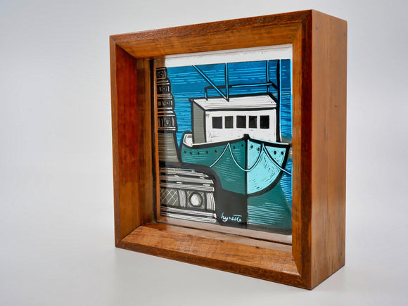 Tiny Stained Glass Window - Designer Craft Shop Made in Canada. Made in Nova Scotia. Made in the Maritimes. Artisan | Fine Craft | Pottery | Ceramics | Jewellery | Jewelry | Art | Bookbinding | Printmaking | Leather | Home | Decor | Local | Halifax | Dartmouth | HRM | Gifts | Handmade | Handcrafted | Atlantic | Gallery | Shop | Unique | One of a Kind |  OOAK