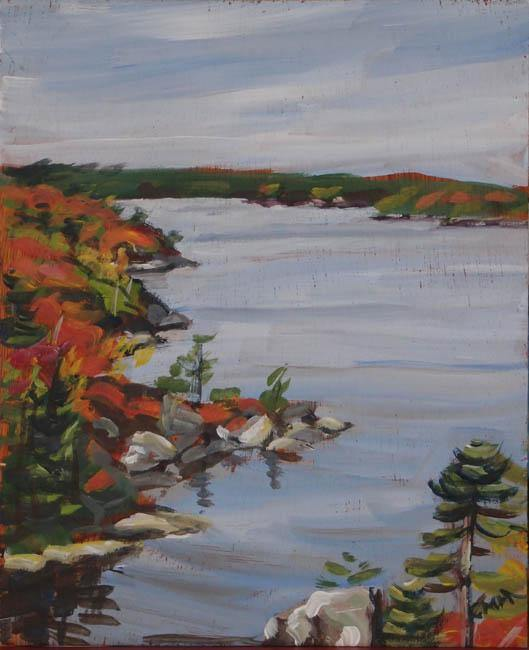 Susie's Lake from Flagpole Hill - Designer Craft Shop Made in Canada. Made in Nova Scotia. Made in the Maritimes. Artisan | Fine Craft | Pottery | Ceramics | Jewellery | Jewelry | Art | Bookbinding | Printmaking | Leather | Home | Decor | Local | Halifax | Dartmouth | HRM | Gifts | Handmade | Handcrafted | Atlantic | Gallery | Shop | Unique | One of a Kind |  OOAK