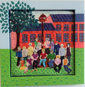 """The Reunion"" Quilt Artwork - Designer Craft Shop"