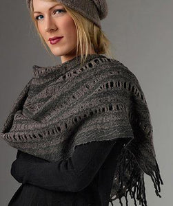 BARK Cropped Poncho - Designer Craft Shop
