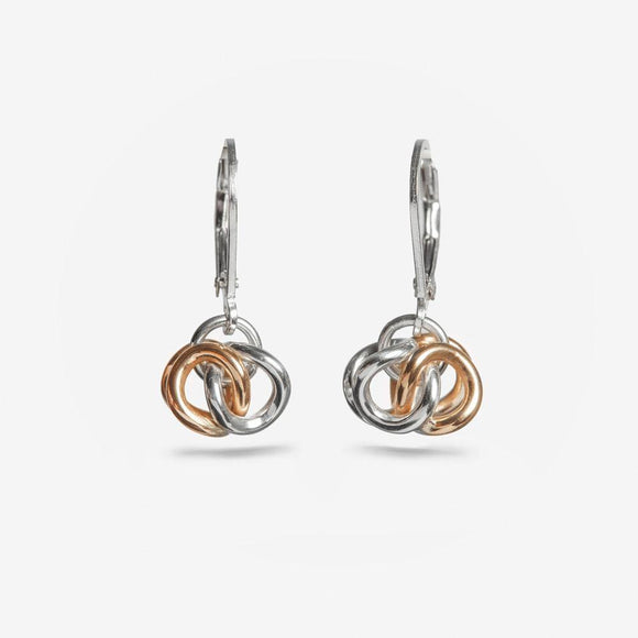 Hugs Drop Earrings SS/14K - Designer Craft Shop