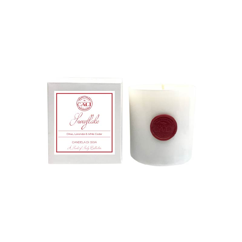 Snowflake - white cedar and lavender 9 oz Soy Candle - Scents of Sicily Collection