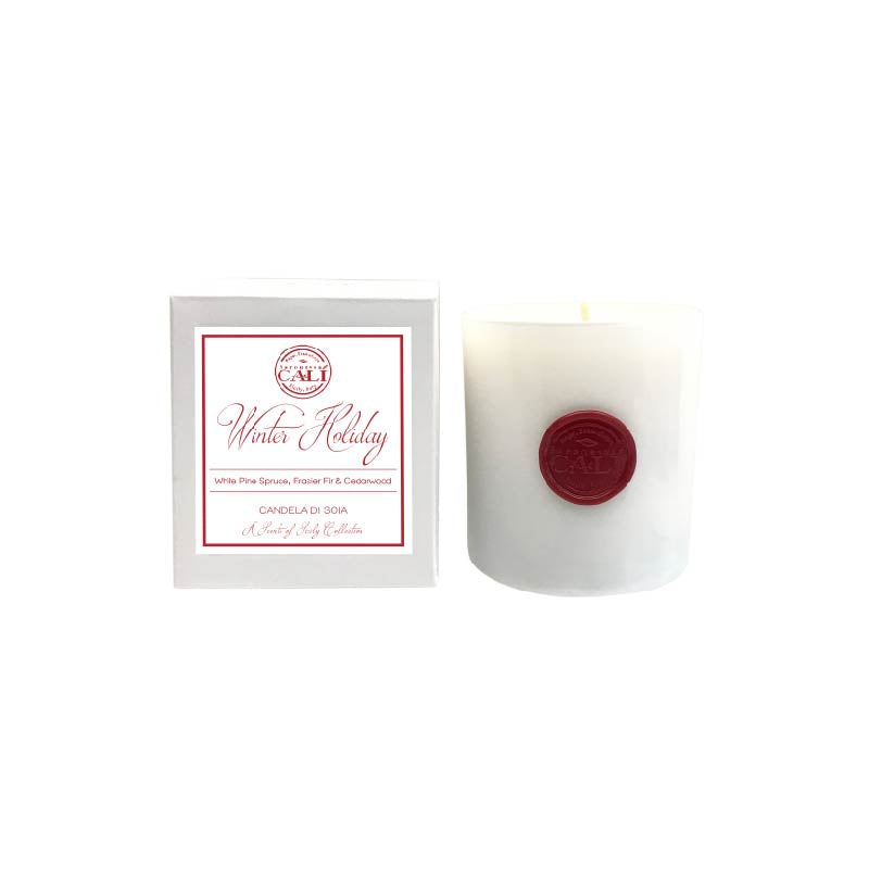Winter Holiday - frasier fir white pine  9 oz Soy Candle - Scents of Sicily Collection