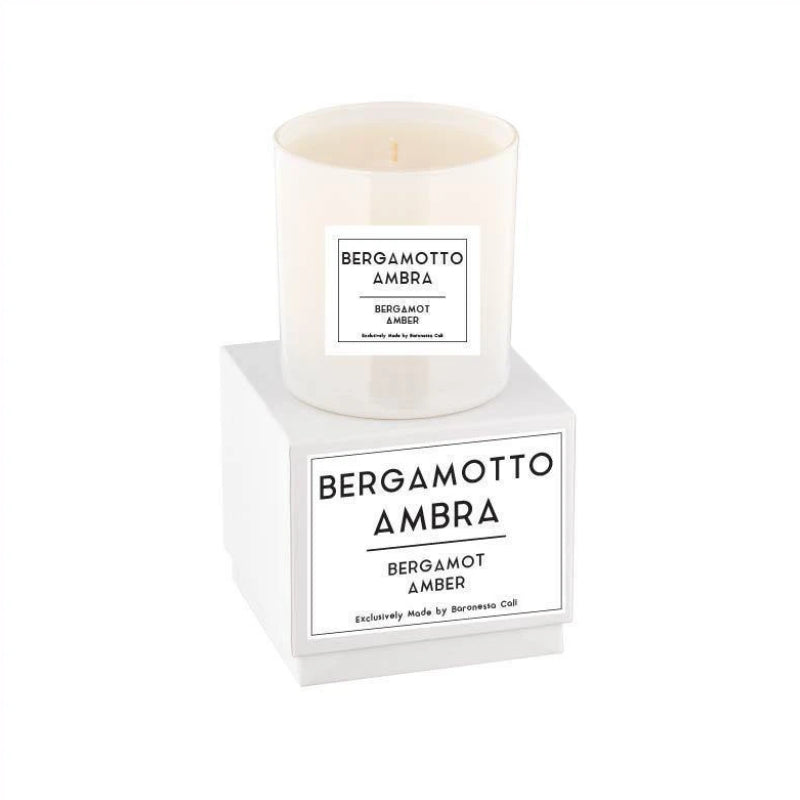 Linea Lusso Collection - 9 oz soy candle - Bergamot Amber