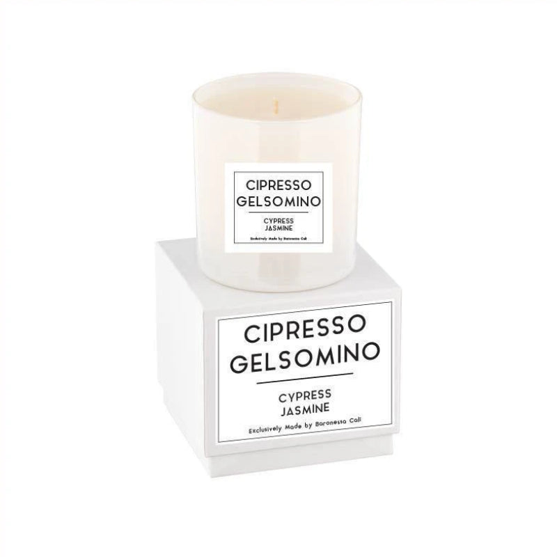 Linea Lusso Collection - 9 oz soy candle - Cypress Jasmine