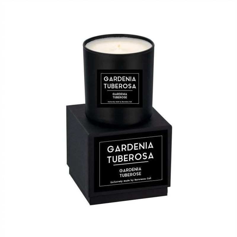 Linea Lusso Collection - 9 oz soy candle - Gardenia Tuberose