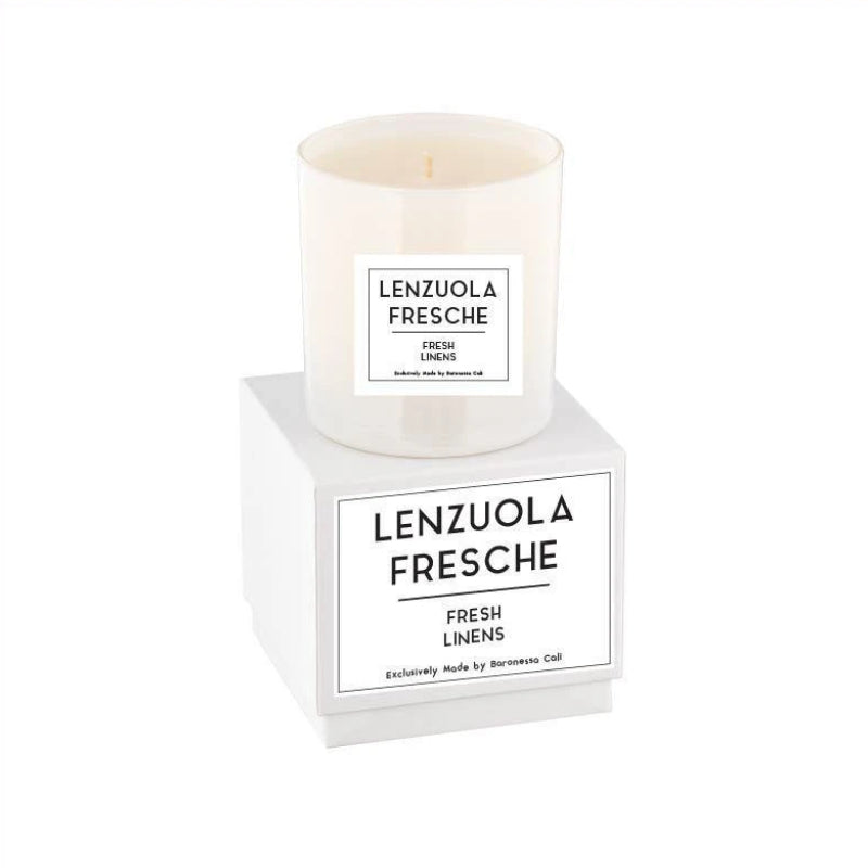 Linea Lusso Collection - 9 oz soy candle - Fresh Linens