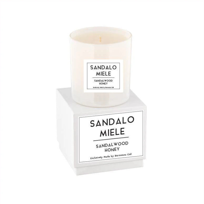 Linea Lusso Collection - 9 oz soy candle - Sandalwood Honey