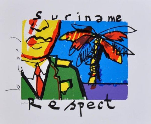 Suriname Respect - Zeefdruk